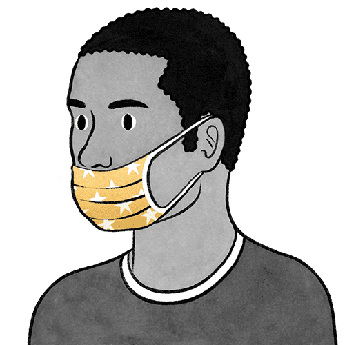 YAPMAYIN: Maskeyi burnun altından takmak.