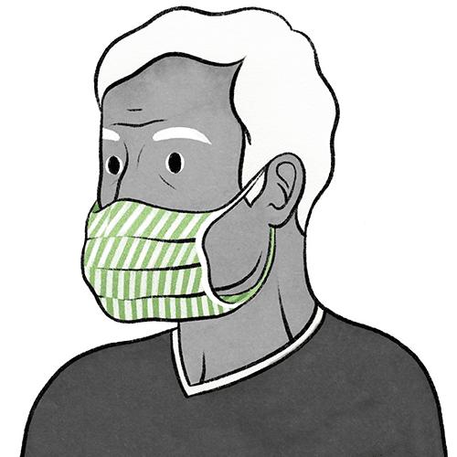 YAPMAYIN: Maskeyi yanlardan boşluk oluşturacak şekilde gevşek takmak.